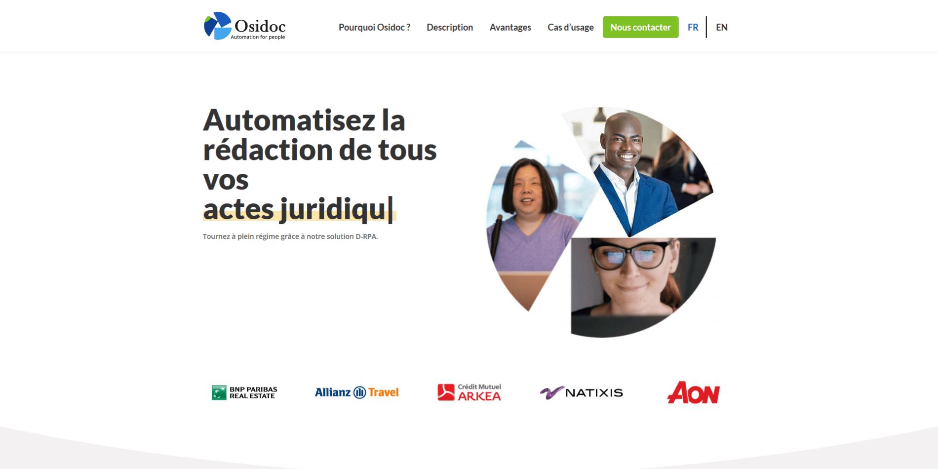 Création du site web d'Osidoc - Après