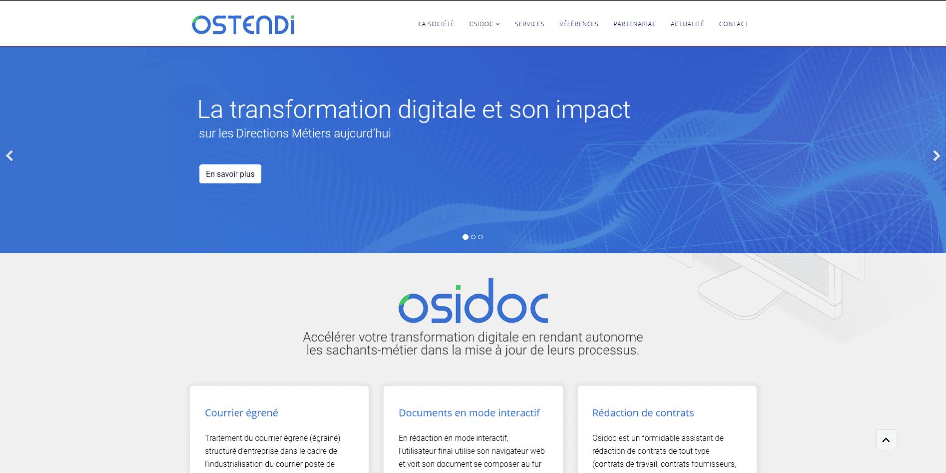 Création du site web d'Osidoc - Avant
